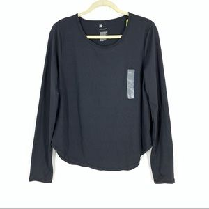 All In Motion Black Long Sleeve Top Large NWT